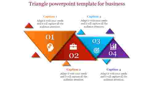 Biggest Contribution Of Triangle Powerpoint Template